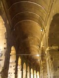 Interior Ceiling of the Colosseum. Inside the Ancient Rome Colosseum Royalty Free Stock Photo