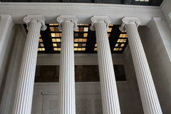 Interior ceiling and columns lincoln memorial Stock Photos