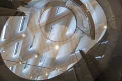 Interior Ceiling Detail of The Broad Contemporary Art Museum. LOS ANGELES, CALIFORNIA - JULY 5, 2016: The Broad, a contemporary art museum in Los Angeles Stock Photography