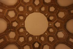 Interior Ceiling of the Palace of Fine Arts Stock Photos