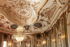 Interior Ceiling in the Palace of Queluz, Portugal Royalty Free Stock Image