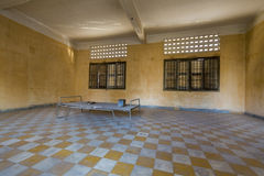 Interior of cell, Tuol Sleng Museum or S21 Prison, Phnom Penh, C Royalty Free Stock Photos