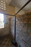 Interior of cell, Tuol Sleng Museum or S21 Prison, Phnom Penh, C Royalty Free Stock Photography
