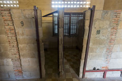 Interior of cell, Tuol Sleng Museum or S21 Prison, Phnom Penh, C Stock Photos