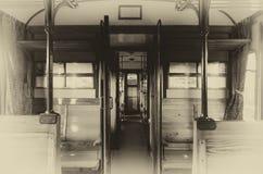 Interior of a Centoporte compartment train coach Royalty Free Stock Photos