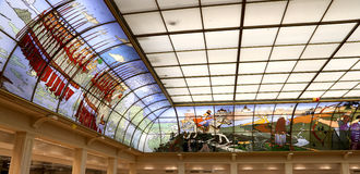 Interior Central children's store on Lubyanka (opened in April 2015 after extensive reconstruction) , Moscow, Russia Stock Photos