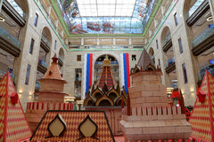Interior Central children`s store on Lubyanka opened in April 2015 after extensive reconstruction , Moscow, Russia Royalty Free Stock Photos