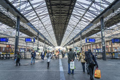Interior of central railway station in helsinki finland Stock Photos