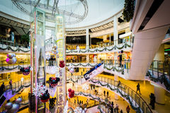 The interior of the CentralWorld Mall, at Siam, in Bangkok, Thai Royalty Free Stock Photography