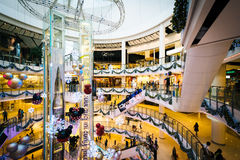 The interior of the CentralWorld Mall, at Siam, in Bangkok, Thai Royalty Free Stock Image