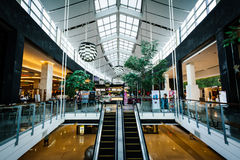 The interior of the CentralWorld Mall, at Siam, in Bangkok, Thai Stock Photography