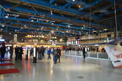 Interior Centre Pompidou in Paris Stock Photos