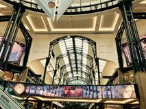 Interior of the Centro Shopping Mall in Oberhausen, Germany Royalty Free Stock Image