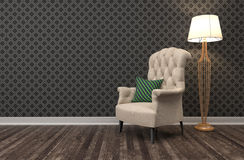 Interior with chair. 3d illustration Stock Photography