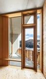 Interior chalet, window Royalty Free Stock Photo