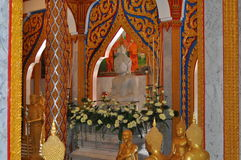 Interior of Chalong temple Phuket Thailand Stock Photo
