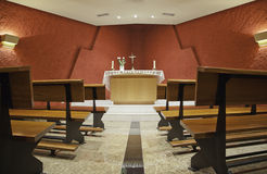 Interior of chapel Royalty Free Stock Images