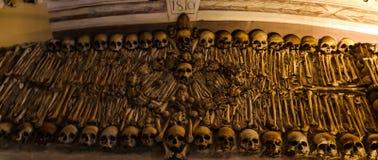 Interior of Chapel of the Bones in Evora, Portugal Stock Image