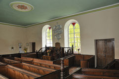 Interior of Chapel Soar y Mynydd Royalty Free Stock Images