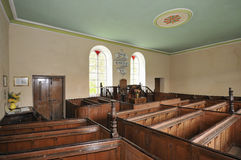 Interior of Chapel Soar y Mynydd Stock Photography