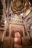 The interior of the chapel of Villaviciosa in Mesquite mosque mezquita in Cordoba. Spain Andalucia stock photography