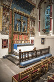 Interior of a chapel with wood paneling Royalty Free Stock Photography