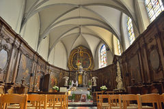 Interior of Chapelle de Bois-Seigneur-Isaac Royalty Free Stock Photos
