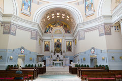 Interior of Charles Borromeo Church on Central Cemetery of Vienn Stock Photos