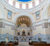 Interior of Charles Borromeo Church on Central Cemetery of Vienn Royalty Free Stock Photos