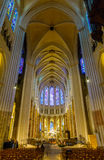Interior of Chartres Cathedral, France Stock Photography
