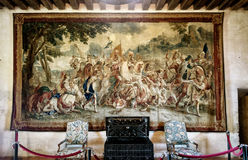 Interior Chateau de Chaumont-sur-Loire in France Royalty Free Stock Images