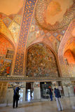 Interior of the Chehel Sotoun palace in Isfahan, Iran Royalty Free Stock Photo