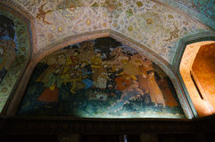 Interior of Chehel Sotoun Palace in Isfahan,Iran. Stock Image
