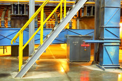 Interior of chemical factory. Equipment of modern production of industrial factory Stock Image