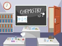 Interior of chemistry classroom. Illustration stock illustration