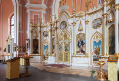 Interior of Chesme Church in St Petersburg, Russia. SAINT PETERSBURG, RUSSIA - AUGUST 04, 2016: Interior of Chesme Church (Church of St John the Baptist Chesme Royalty Free Stock Photos