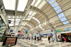 Interior of in Chicago airport terminal Royalty Free Stock Photo