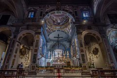 Interior of the Chiesa di Ognissanti is a church in Florence Stock Image