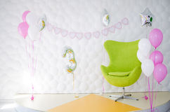 The interior of a child`s birthday party Royalty Free Stock Photos