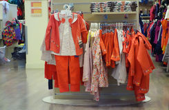 Interior Children Clothing Store Stock Image