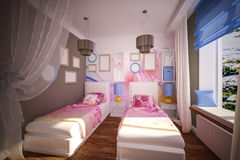Interior children's bedroom Stock Images