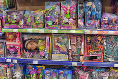 Interior Children Toys Shop Stock Photos