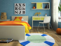 Interior of the childroom Stock Photos