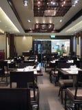 Interior chinês do restaurante imagens de stock