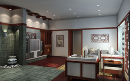 Interior Chinese living-room Royalty Free Stock Photo