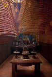 Interior of chinese Ong Temple Royalty Free Stock Photo