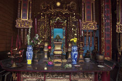 Interior of chinese Ong Temple Royalty Free Stock Image