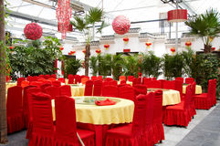 Interior of chinese restaurant Royalty Free Stock Images