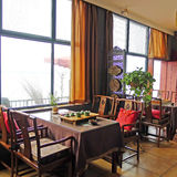 Interior of chinese tea restaurant. In wuhan,china Royalty Free Stock Photos