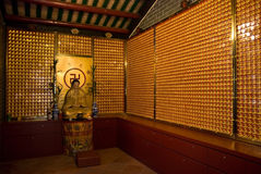 Interior of Chinese temple Stock Photography